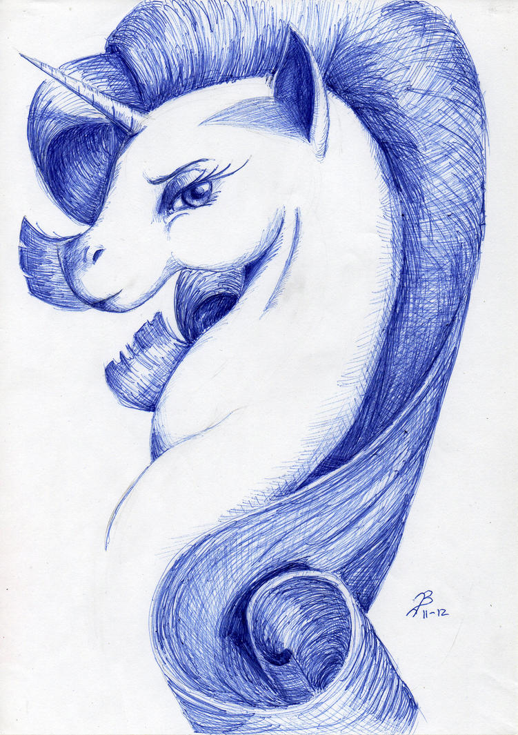 Rarity (Ballpoint pen) by DragonaDeMetal