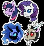 Tiny pony heads