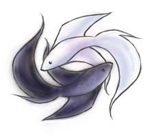 betta pisces yin-yang