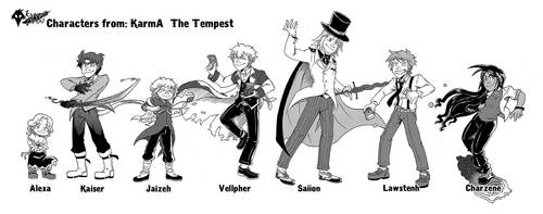 Characters from KarmA The Tempest by AncelTheWolf