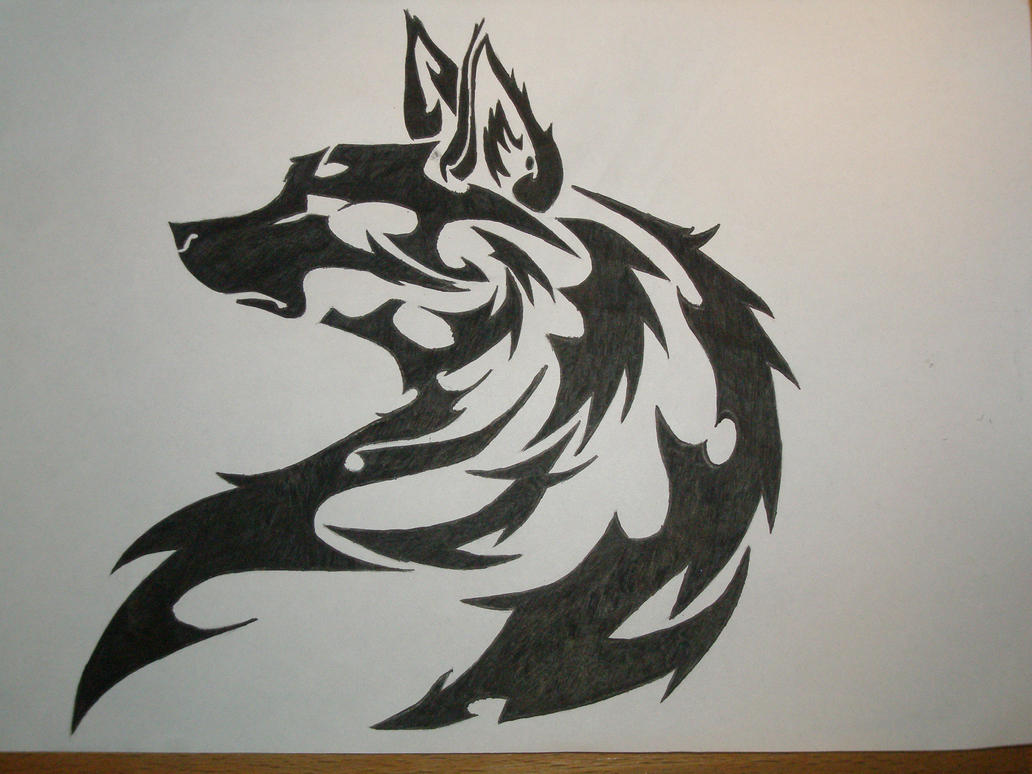 Tribal wolf by AkvileS...