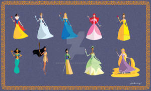 Origami Disney Princesses