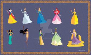 Origami Disney Princesses