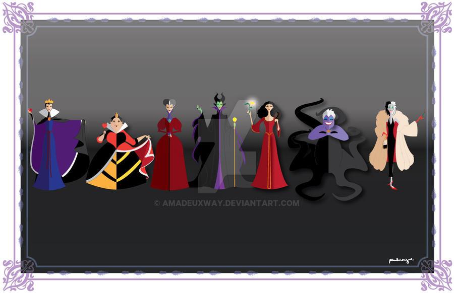 Disney female Villains by AmadeuxWay