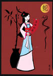 Chinese New Year celebration with Mulan