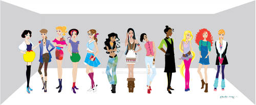 Disney Urban Princesses by AmadeuxWay