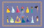 13 Origami style Disney Princesses