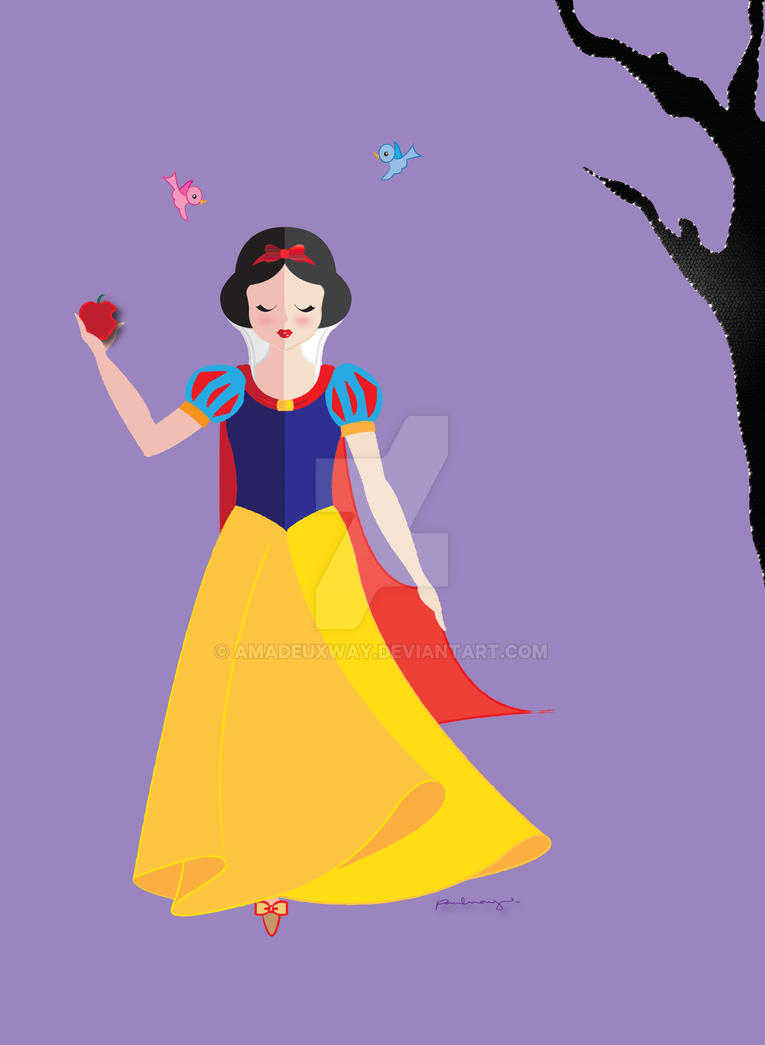 cutesy snow white by amadeuxway on deviantart