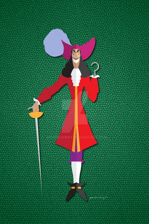 Disney Villain - Origami Captain Hook
