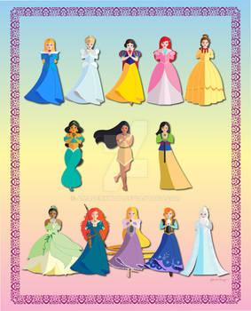 Cutesy Disney Princesses