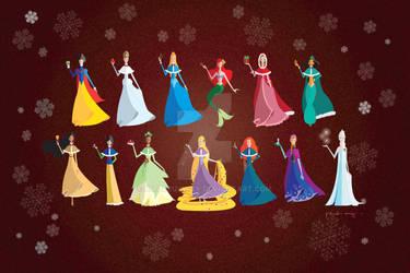 Disney Princesses - Christmas Time