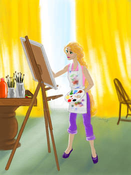 Dream big, Princess! - Rapunzel The Painter