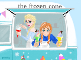 Anna and Elsa the Shave Ice Seller