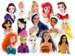 Disney Princess portrait