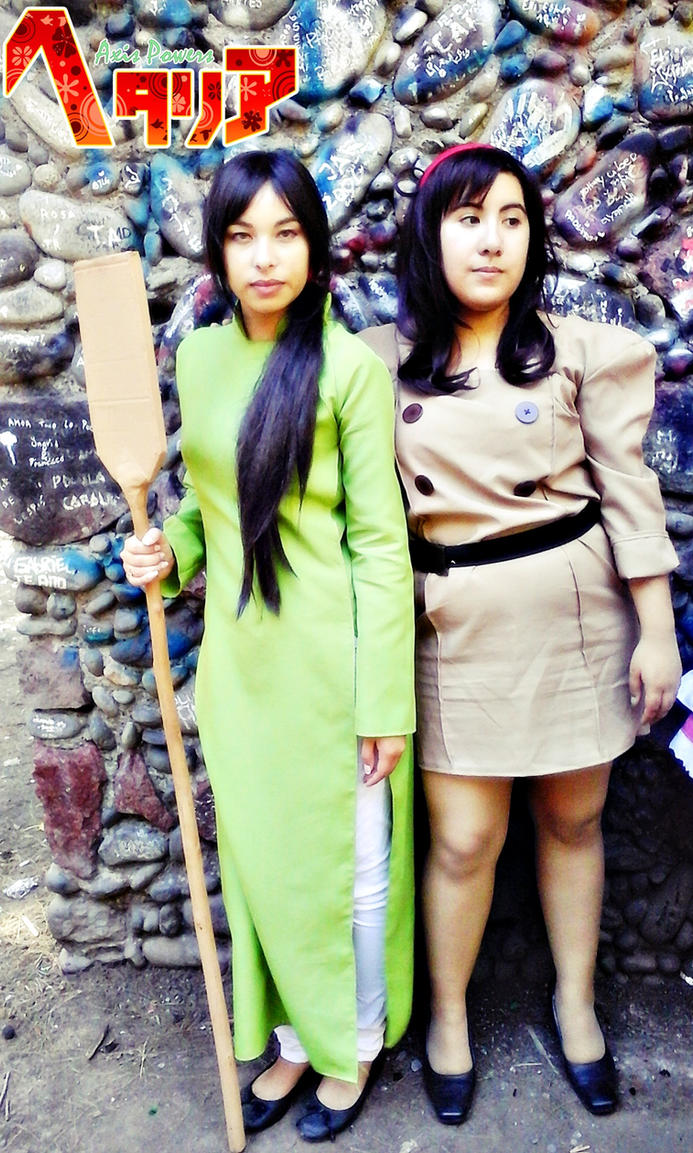 APH: Vietnam and Nyo!Romano cosplay by undercreed-genesis