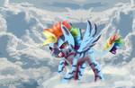 Zebra Rainbow Dash