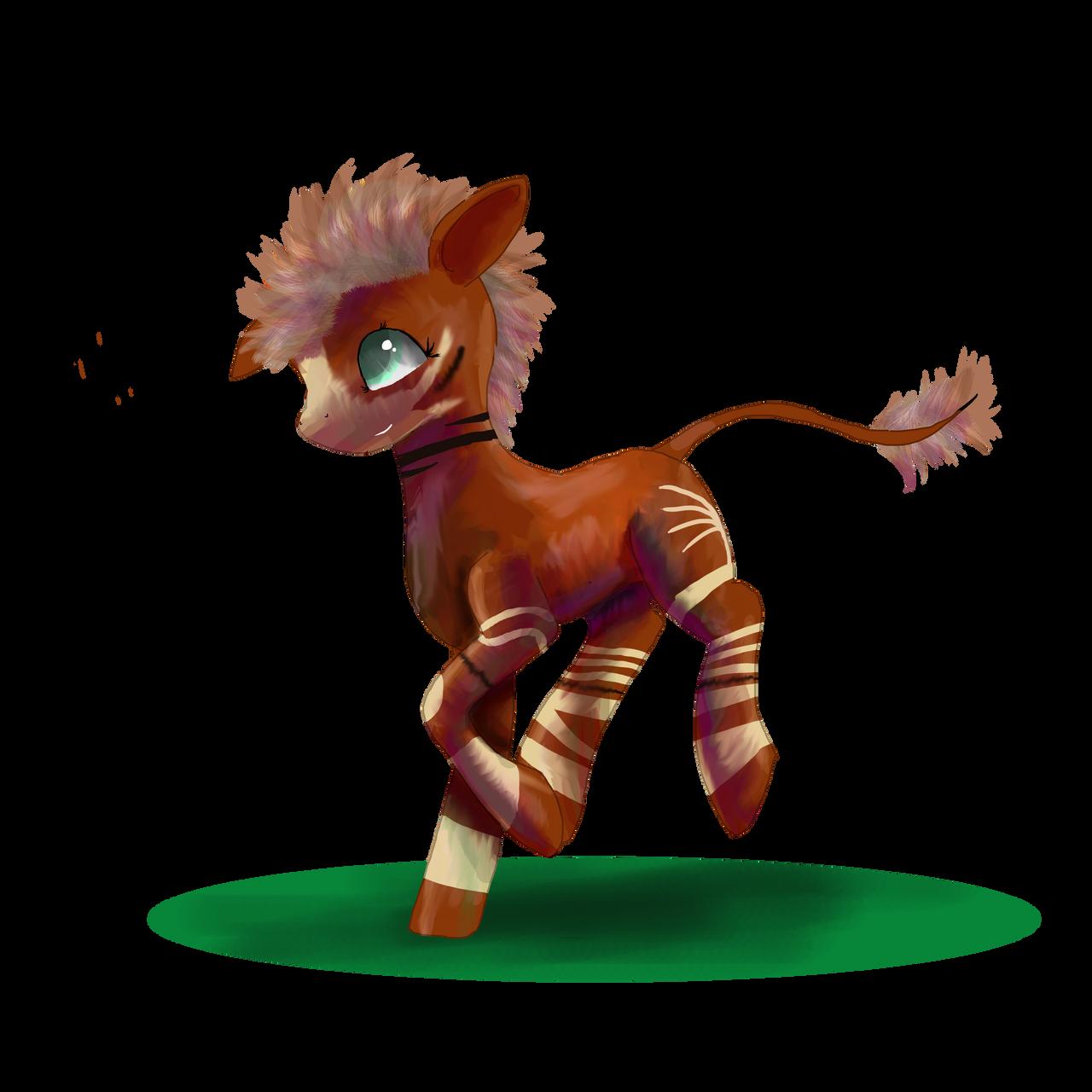 a Okapi by SuperRobotRainbowPig