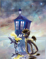 The Doctor and Derpy by SuperRobotRainbowPig