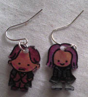 Cute Lupin and Tonks earrings by Lovelyruthie