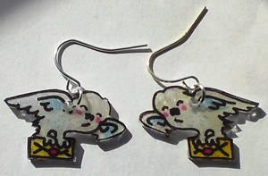 Cute Hedwig Owl Post earrings by Lovelyruthie