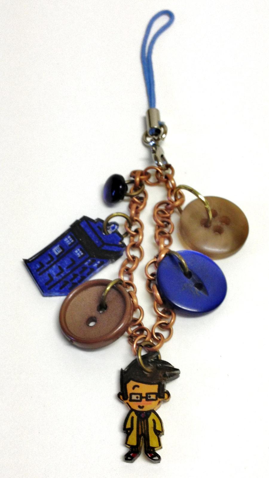 Kawaii Doctor TARDIS handbag charm by Lovelyruthie
