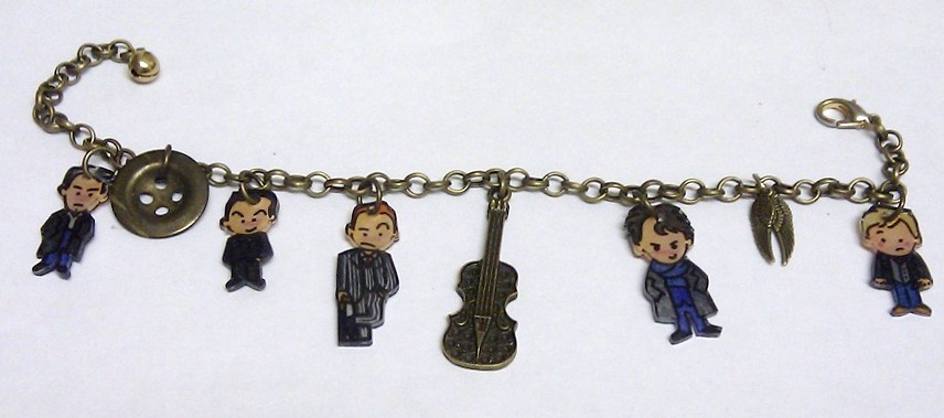 Kawaii Sherlock charm bracelet by Lovelyruthie
