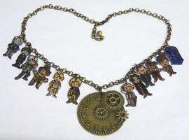Kawaii Doctor Who Timelords necklace
