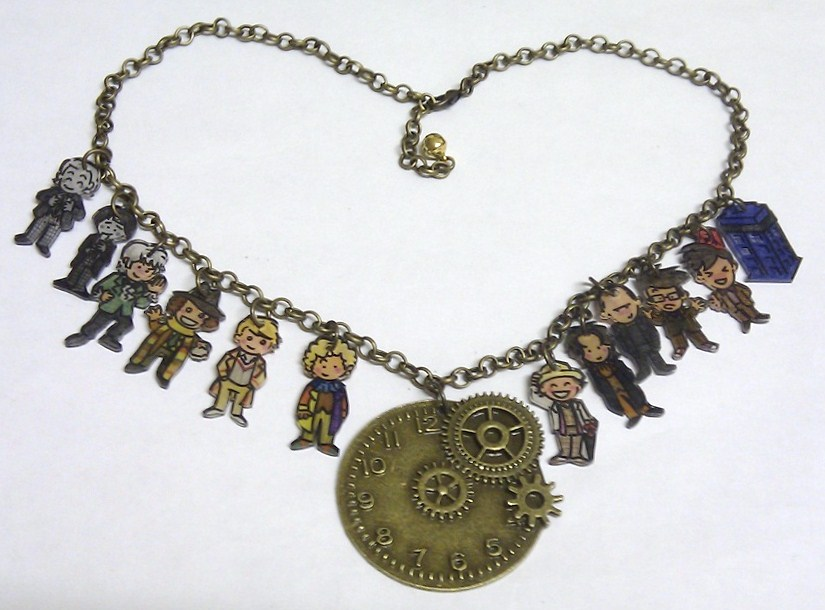 kawaii doctor who timelords necklace by lovelyruthie on