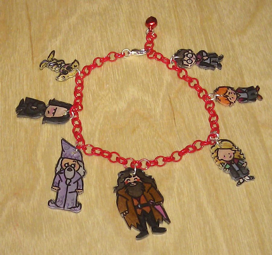 Kawaii Harry Potter charm bracelet by Lovelyruthie
