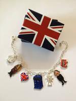 9 and Rose Best of British charm bracelet by Lovelyruthie