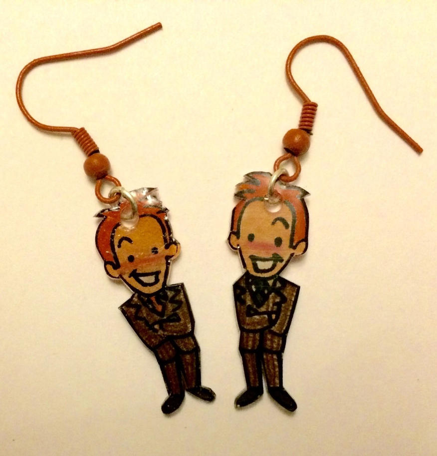 Weasley Twins earrings variant by Lovelyruthie