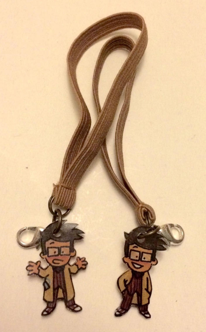 OOAK 10th Doctor charms set by Lovelyruthie