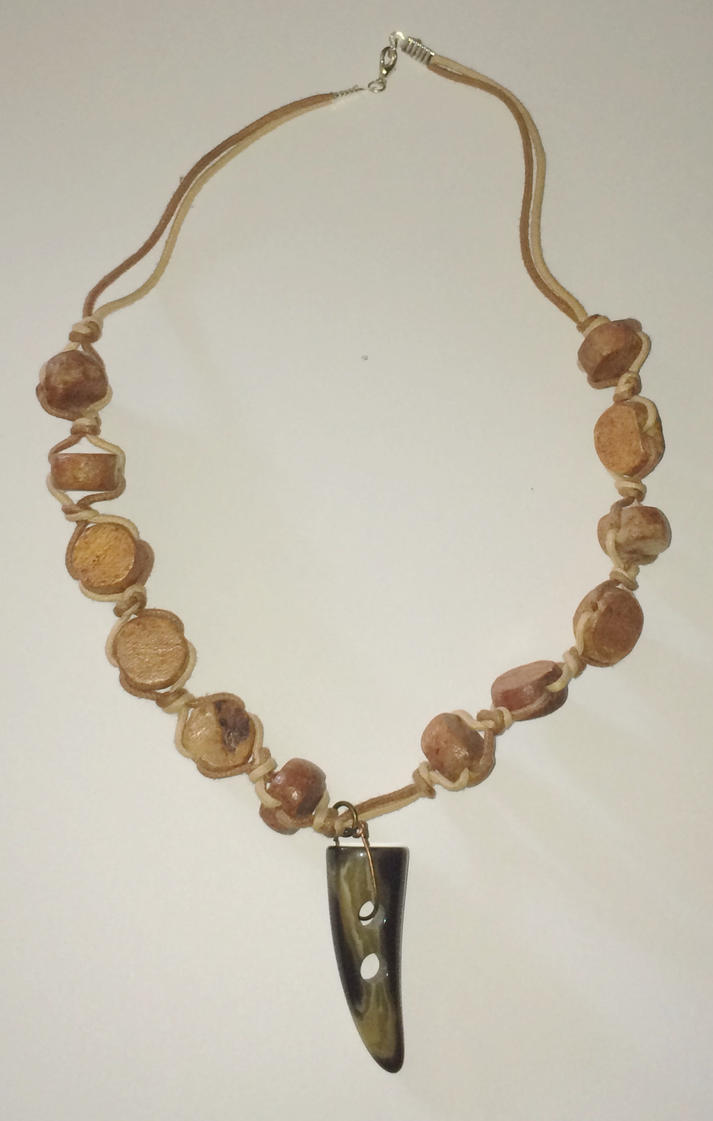 Tooth horn necklace by Lovelyruthie