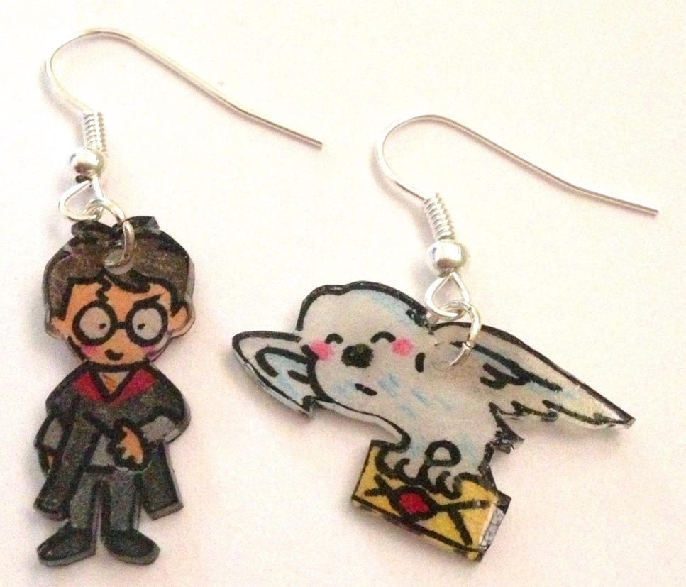 Owl Post earrings by Lovelyruthie