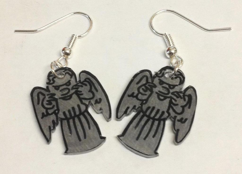 Weeping Angels earrings by Lovelyruthie