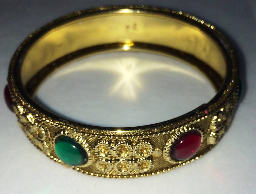 Golden jewels bangle by Lovelyruthie