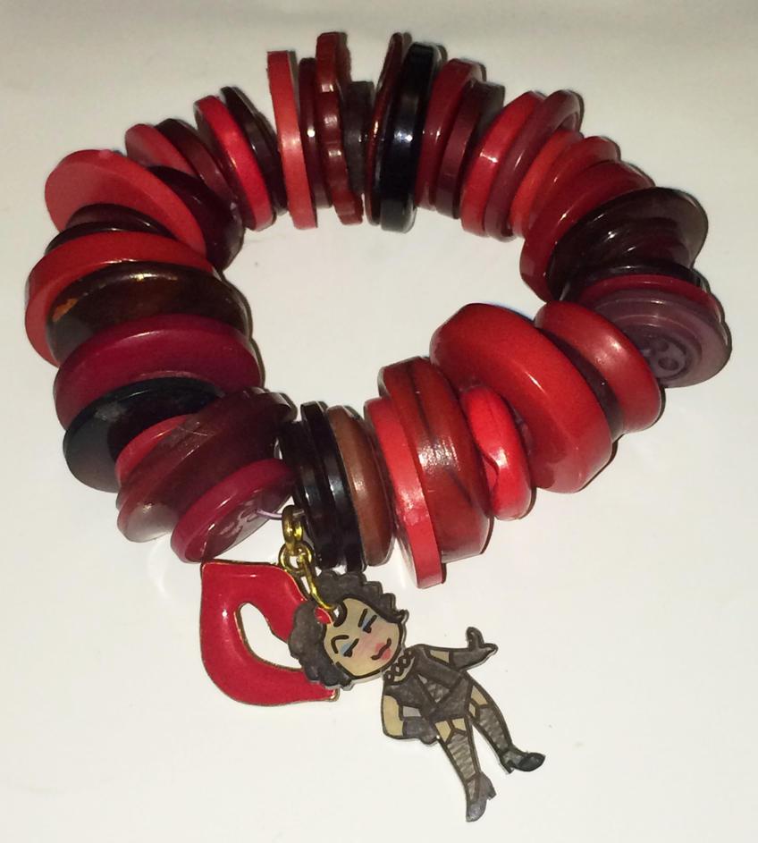 Rocky Horror charm bracelet - red by Lovelyruthie
