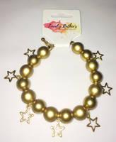 Star bead bracelet by Lovelyruthie