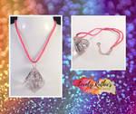 Glitter Gem Leather Necklace by Lovelyruthie