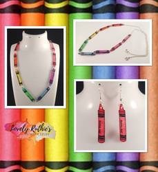 I Freaking Love Colouring Crayon Jewellery by Lovelyruthie