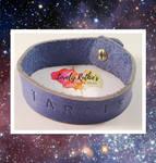 OOAK Leather TARDIS Cuff Bracelet by Lovelyruthie