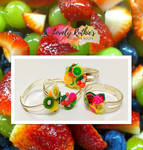 Fruity Friendship Rings by Lovelyruthie