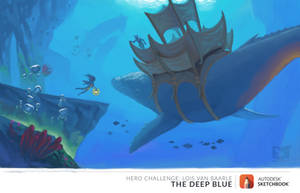 The Deep Blue - Whale Stop by IcisDaruma