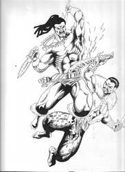 Killmonger vs Kraven Inked