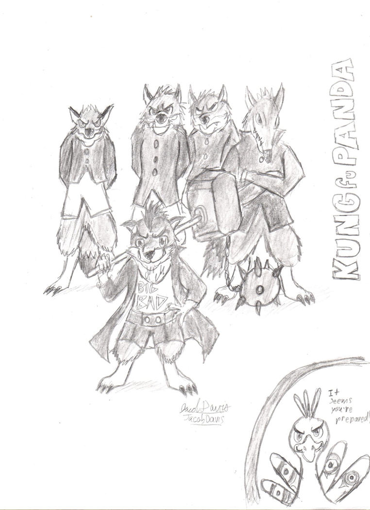 KUNG fu PANDA- Boss Wolf Childhood by jacobspencer04