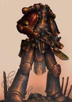Legionary of the fourteenth Dusk Raiders by WannaTryMe1138