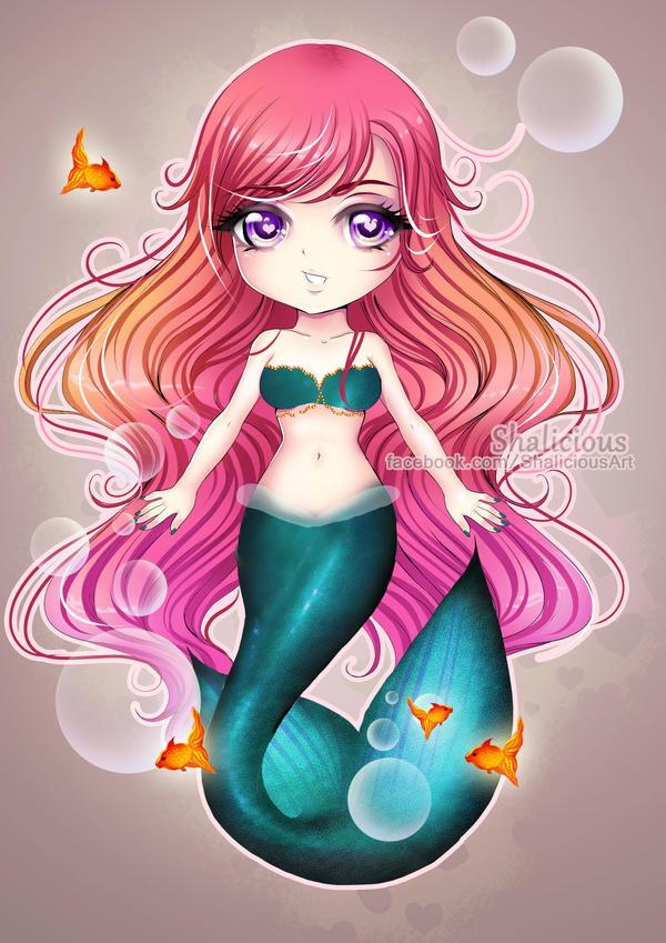 Chibi Mermaid By Shalicious On DeviantArt
