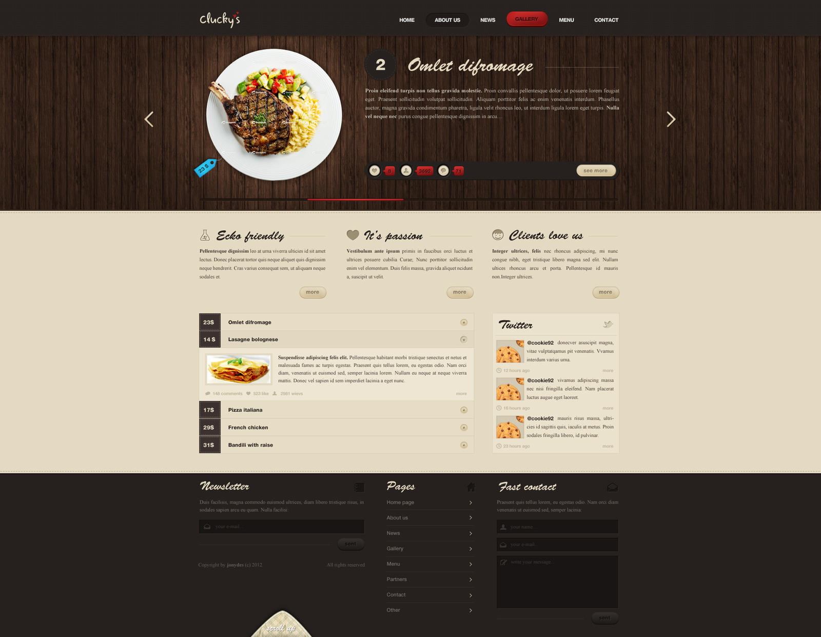 Restaurant - simple site by 0fenrill0