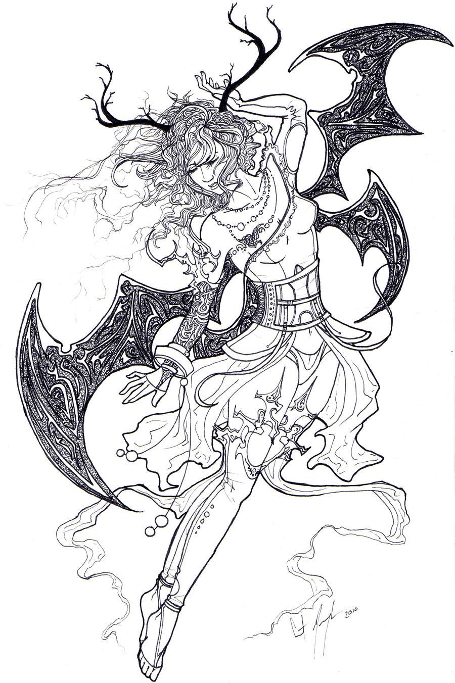 Demon Goddess by XOCrista