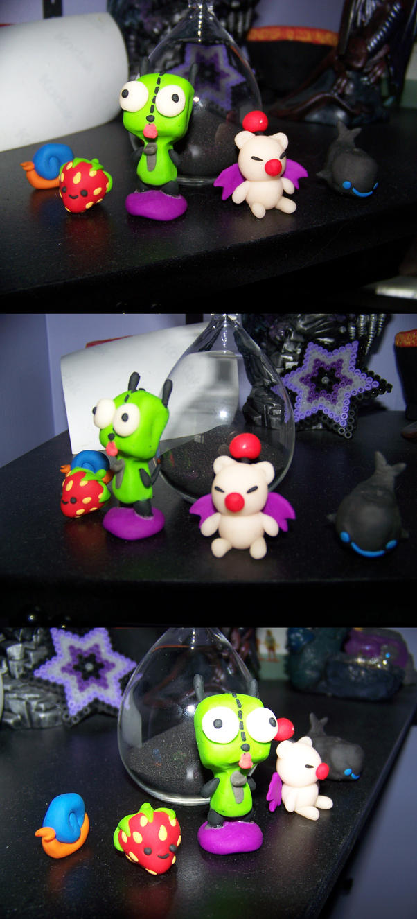 I made cute things out of clay by xocrista on deviantart for Cute things to make out of clay